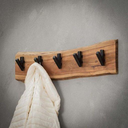Stoer rustiek houten kapstok