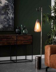 Ambachtelijke vloerlamp vintage metaal
