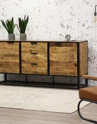 Industrieel Dressoir hout metaal