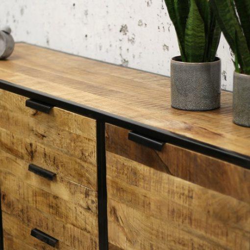Industrieel Dressoir hout metaal design