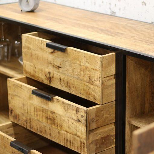 Industrieel Dressoir hout metaal look