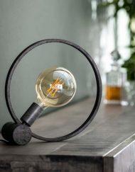 Industriële tafellamp trendy rond