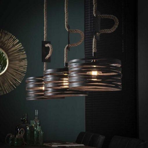 Stijlvolle hanglamp vintage metalen kap