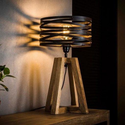Stijlvolle tafellamp vintage metalen kap