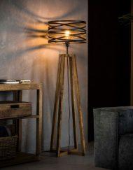 Stijlvolle vloerlamp vintage metaal