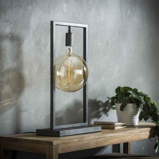 Tafellamp rechthoekig metaal industrieel