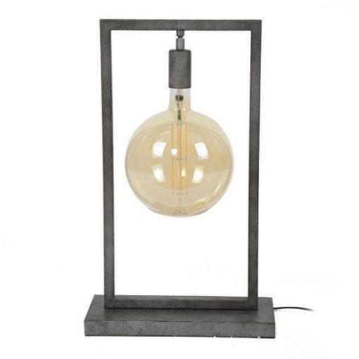 Tafellamp rechthoekig metaal sfeervol