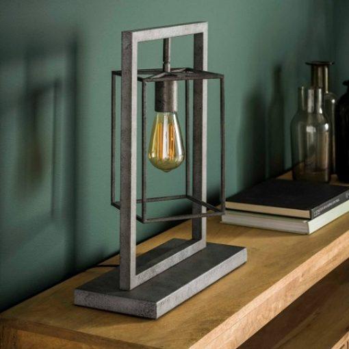 Tafellamp vierkant sfeervol interieur