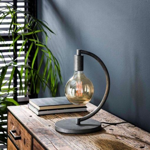 Tafellamp vintage half rond