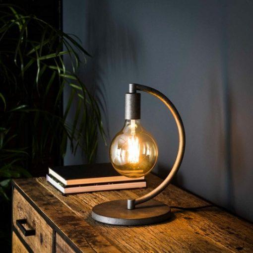 Tafellamp vintage half rond metaal