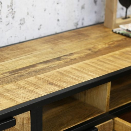 Tv meubel Industriëlen look opbergruimte hout