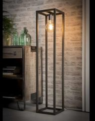 Vintage vloerlamp vierkant industrieel