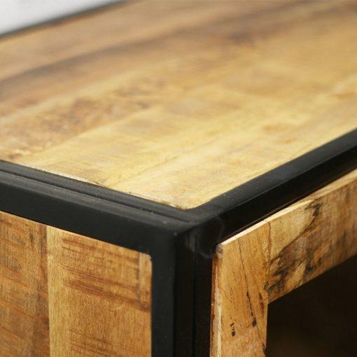Wandkast opbergruimte hout metaal sfeervol