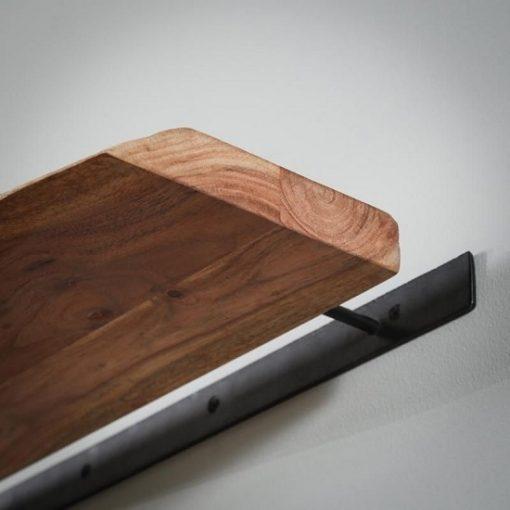 Wandplank acaciahout zwevende