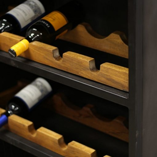 industriëlen wijnkast metalen opbergmand