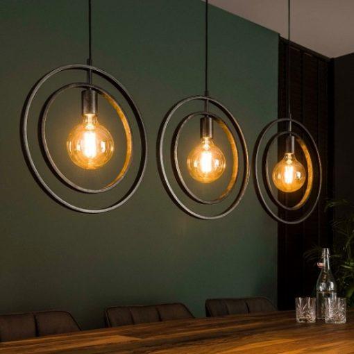 Industrieel hanglamp drie ringen