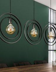 Industrieel hanglamp verstelbare ringen