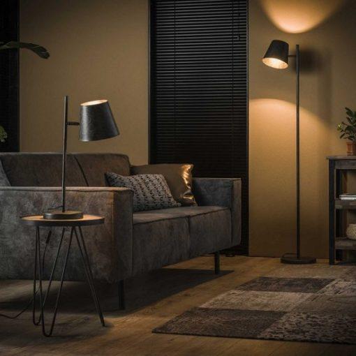 Metalen verstelbare sfeer vloerlamp