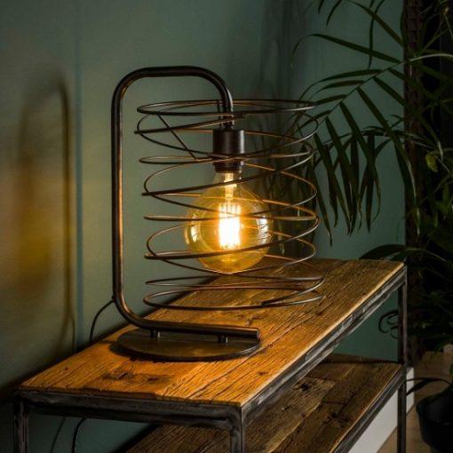 Tafellamp industrieel speels zwart