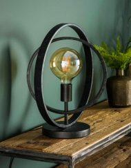 Tafellamp industrieel vintage rond