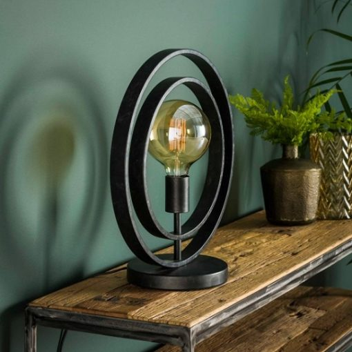 Tafellamp industrieel vintage rond design