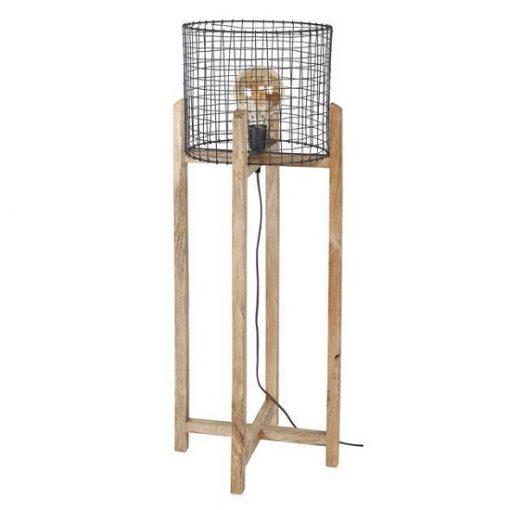 Vloerlamp hout metalen wonen