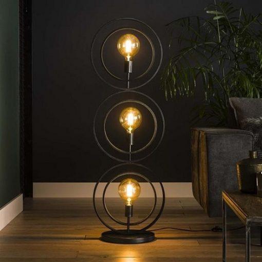 Vloerlamp metaal drie cirkels