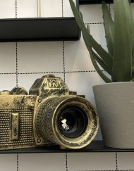 Camera lamp Goud-Zwart