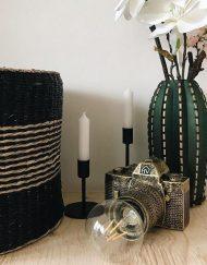 Camera lamp vintage gouden