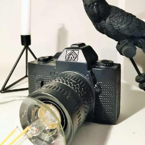 Camera lamp zwart foto