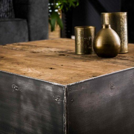 Salontafel vierkant robuust hout