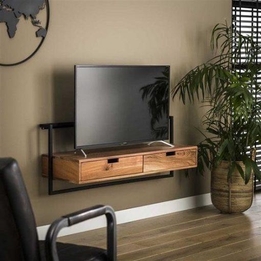 Tv-meubel twee laden industrieel