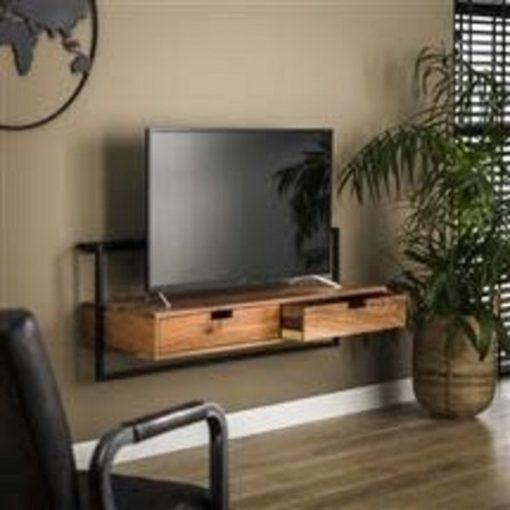 Tv-meubel twee laden industrieel sfeer