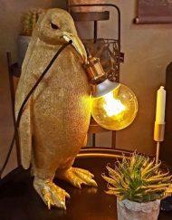 Lamp pinquin goud staand