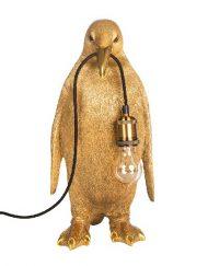 Lamp pinquin goud staande