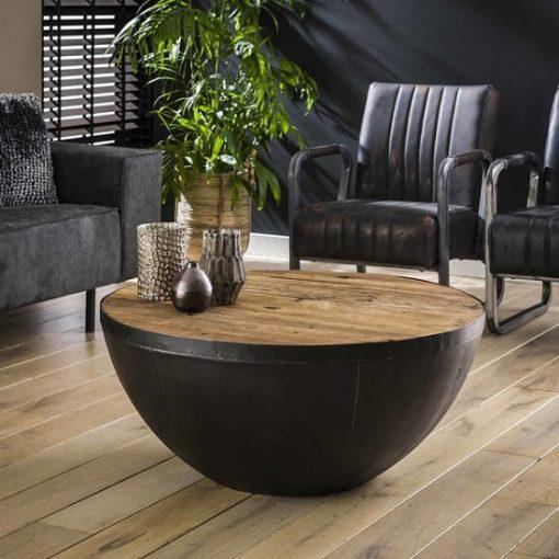 Salontafel hout metaal industrieel