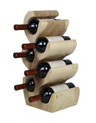 Wijnrek hout 6 flessen