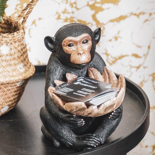 Beeld aap zwart en goud