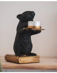 Muis kandelaar goud zwart