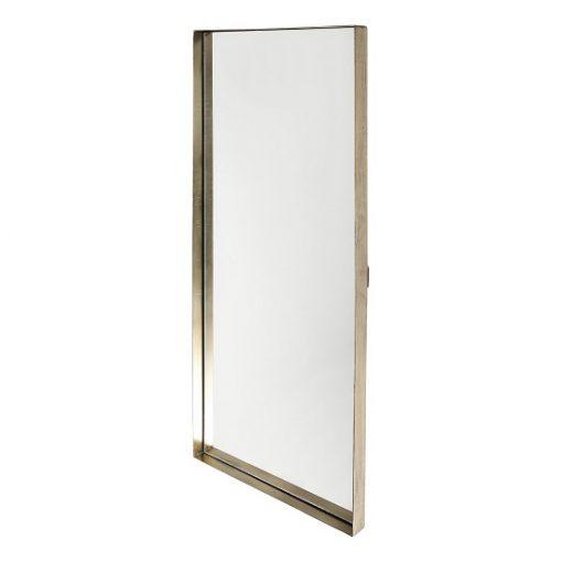 Spiegel gouden lijst rechthoek wand