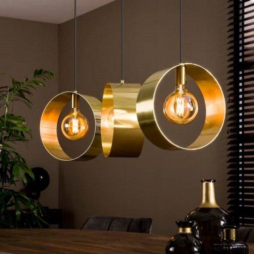 Hanglamp drie gouden ringen