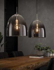 Hanglamp geschaduwd ovaal glas
