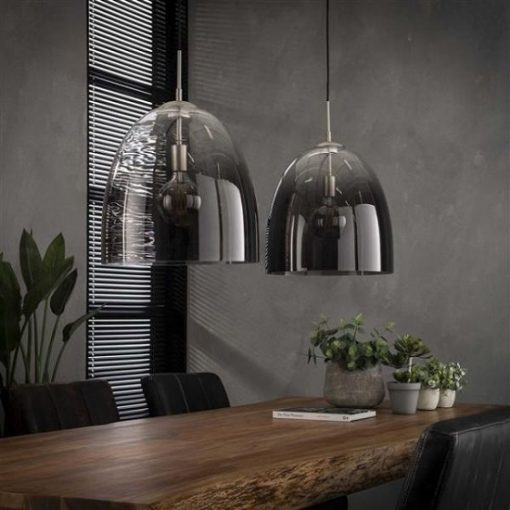 Hanglamp geschaduwd ovaal glas industrieel