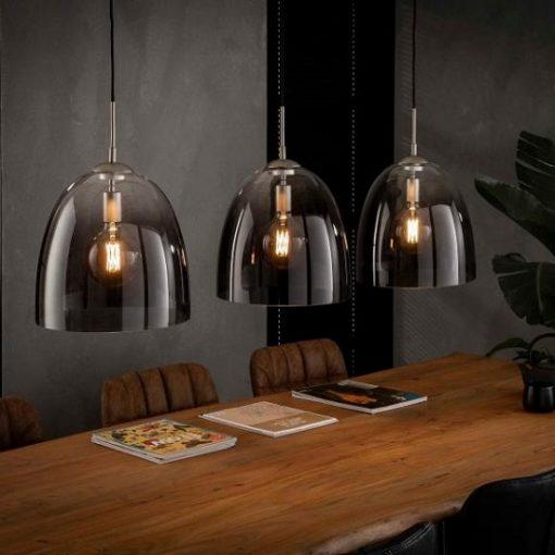 Hanglamp geschaduwd vintage glas