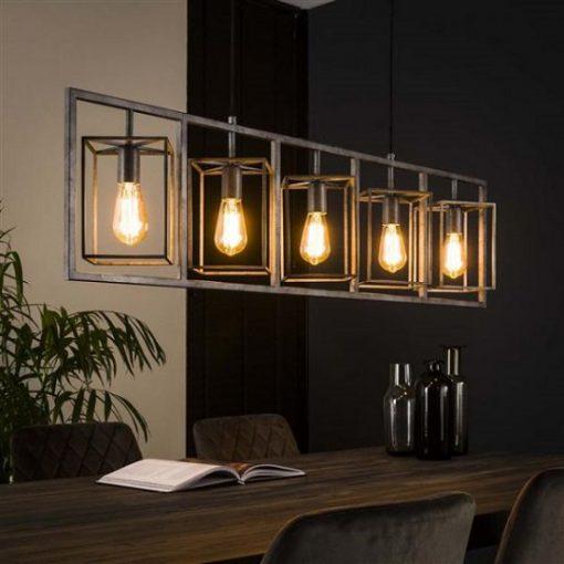 Hanglamp vintage metaal vierkant
