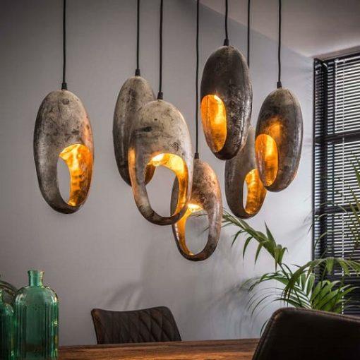 Hanglamp zeven ovalen ringen