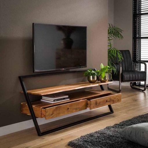 TV meubel twee laden hout