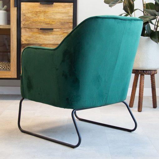 Fauteuil fluweel groen velvet