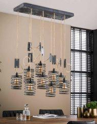 Hanglamp negen industriëlen kappen grijs