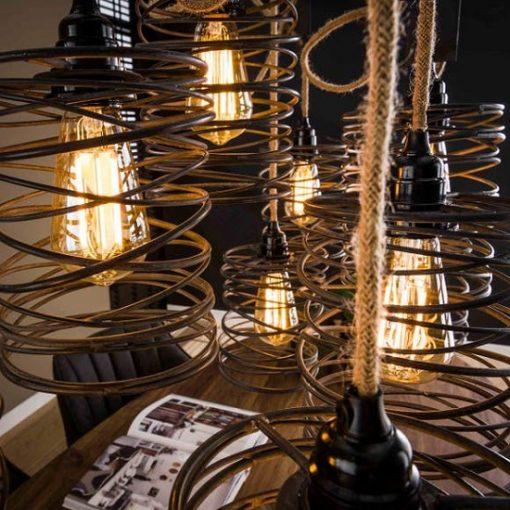 Hanglamp negen industriëlen open kappen